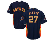 Mens Mlb Houston Astros #27 Jose Altuve Navy 2018 Gold Program Cool Base Player Jersey
