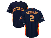 Mens Mlb Houston Astros #2 Alex Bregman Navy 2018 Gold Program Cool Base Player Jersey