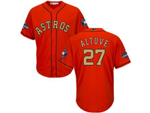Mens Mlb Houston Astros #27 Jose Altuve Orange 2018 Gold Program Cool Base Player Jersey