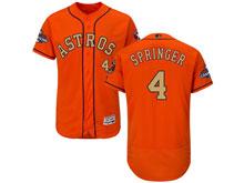 Mens Mlb Houston Astros #4 George Springer Orange 2018 Gold Program Flex Base Player Jersey