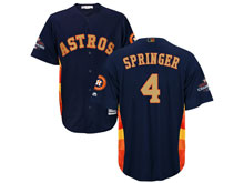 Mens Mlb Houston Astros #4 George Springer Navy 2018 Gold Program Cool Base Player Jersey