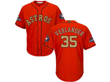 Mens Mlb Houston Astros #35 Justin Verlander Orange 2018 Gold Program Cool Base Player Jersey