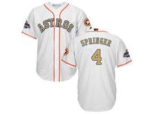 Mens Mlb Houston Astros #4 George Springer White 2018 Gold Program Cool Base Player Jersey