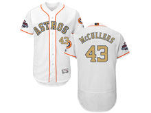 Mens Mlb Houston Astros #43 Lance Mccullers White 2018 Gold Program Flex Base Player Jersey