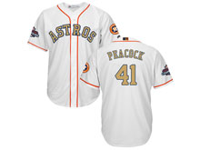 Mens Mlb Houston Astros #41 Brad Peacock White 2018 Gold Program Cool Base Player Jersey