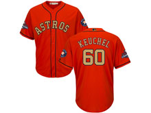 Mens Mlb Houston Astros #60 Dallas Keuchel Orange 2018 Gold Program Cool Base Player Jersey