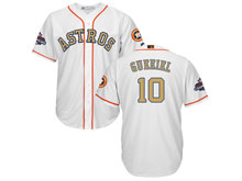 Mens Mlb Houston Astros #10 Yuli Gurriel White 2018 Gold Program Cool Base Player Jersey