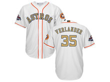 Mens Mlb Houston Astros #35 Justin Verlander White 2018 Gold Program Cool Base Player Jersey