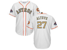 Mens Mlb Houston Astros #27 Jose Altuve White 2018 Gold Program Cool Base Player Jersey