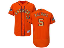 Mens Mlb Houston Astros #5 Jeff Bagwell Orange 2018 Gold Program Flex Base Player Jersey