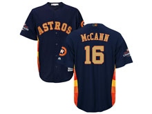 Mens Mlb Houston Astros #16 Brian Mccann Navy 2018 Gold Program Cool Base Player Jersey