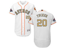Mens Mlb Houston Astros #20 Preston Tucker White 2018 Gold Program Flex Base Player Jersey
