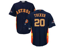Mens Mlb Houston Astros #20 Preston Tucker Navy 2018 Gold Program Cool Base Player Jersey