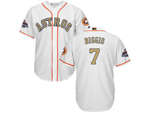 Mens Mlb Houston Astros #7 Craig Biggio White 2018 Gold Program Cool Base Player Jersey