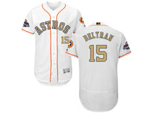 Mens Mlb Houston Astros #15 Carlos Beltran White 2018 Gold Program Flex Base Player Jersey