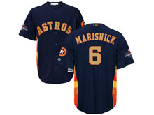 Mens Mlb Houston Astros #6 Jake Marisnick Navy 2018 Gold Program Cool Base Player Jersey