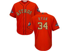 Mens Mlb Houston Astros #34 Nolan Ryan Orange 2018 Gold Program Cool Base Player Jersey