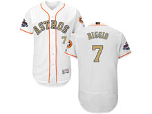 Mens Mlb Houston Astros #7 Craig Biggio White 2018 Gold Program Flex Base Player Jersey