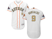 Mens Mlb Houston Astros #9 Marwin Gonzalez White 2018 Gold Program Flex Base Player Jersey
