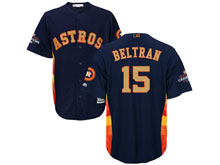 Mens Mlb Houston Astros #15 Carlos Beltran Navy 2018 Gold Program Cool Base Player Jersey