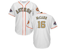 Mens Mlb Houston Astros #16 Brian Mccann White 2018 Gold Program Cool Base Player Jersey