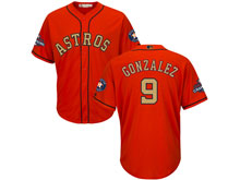 Mens Mlb Houston Astros #9 Marwin Gonzalez Orange 2018 Gold Program Cool Base Player Jersey