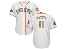 Mens Mlb Houston Astros #11 Evan Gattis White 2018 Gold Program Cool Base Player Jersey