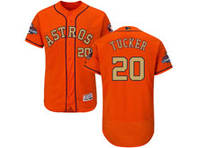 Mens Mlb Houston Astros #20 Preston Tucker Orange 2018 Gold Program Flex Base Player Jersey