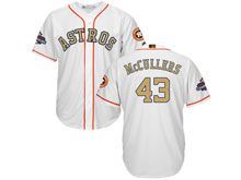 Mens Mlb Houston Astros #43 Lance Mccullers White 2018 Gold Program Cool Base Player Jersey