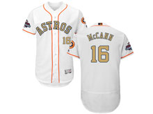 Mens Mlb Houston Astros #16 Brian Mccann White 2018 Gold Program Flex Base Player Jersey