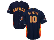 Mens Mlb Houston Astros #10 Yuli Gurriel Navy 2018 Gold Program Cool Base Player Jersey