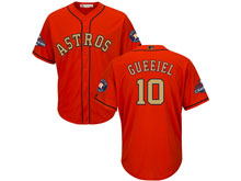Mens Mlb Houston Astros #10 Yuli Gurriel Orange 2018 Gold Program Cool Base Player Jersey