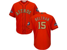 Mens Mlb Houston Astros #15 Carlos Beltran Orange 2018 Gold Program Cool Base Player Jersey