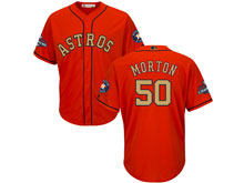 Mens Mlb Houston Astros #50 Charlie Morton Orange 2018 Gold Program Cool Base Player Jersey