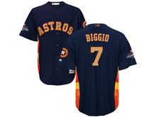 Mens Mlb Houston Astros #7 Craig Biggio Navy 2018 Gold Program Cool Base Player Jersey