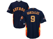 Mens Mlb Houston Astros #9 Marwin Gonzalez Navy 2018 Gold Program Cool Base Player Jersey