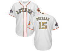 Mens Mlb Houston Astros #15 Carlos Beltran White 2018 Gold Program Cool Base Player Jersey