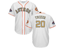 Mens Mlb Houston Astros #20 Preston Tucker White 2018 Gold Program Cool Base Player Jersey