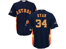Mens Mlb Houston Astros #34 Nolan Ryan Navy 2018 Gold Program Cool Base Player Jersey