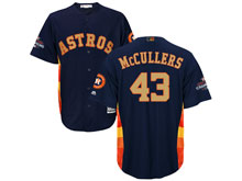 Mens Mlb Houston Astros #43 Lance Mccullers Navy 2018 Gold Program Cool Base Player Jersey