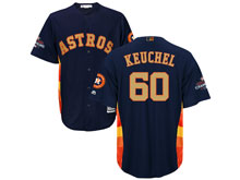Mens Mlb Houston Astros #60 Dallas Keuchel Navy 2018 Gold Program Cool Base Player Jersey