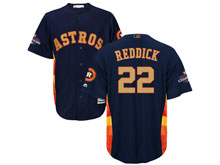 Mens Mlb Houston Astros #22 Josh Reddick Navy 2018 Gold Program Cool Base Player Jersey