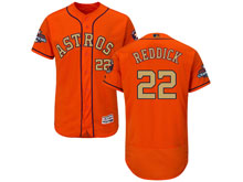 Mens Mlb Houston Astros #22 Josh Reddick Orange 2018 Gold Program Flex Base Player Jersey