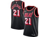 Mens 2017-18 Season Nba Miami Heat #21 Hassan Whiteside Black Throwback Nike Swingman Jersey