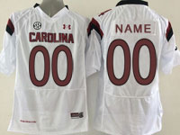 Mens Ncaa Nfl South Carolina Gamecock (custom Made) White (sec) Elite Jersey