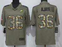 Mens Philadelphia Eagles #36 Jay Ajayi Green Olive Camo Carson 2017 Salute To Service Limited Jersey