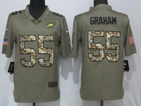 Mens Philadelphia Eagles #55 Brandon Graham Green Olive Camo Carson 2017 Salute To Service Limited Jersey