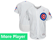 Mens Majestic Chicago Cubs White 2018 Mother's Day Home Custom Made Flex Base Team Jersey
