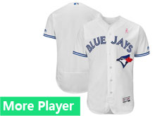 Mens Majestic Toronto Blue Jays White 2018 Mother's Day Home Flex Base Team Jersey