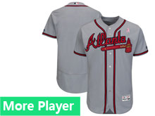 Mens Majestic Atlanta Braves Gray 2018 Mother's Day Home Flex Base Team Jersey